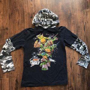 Nickelodeon Shirts & Tops - 3/$15 Boys TMNT long sleeve hooded tee